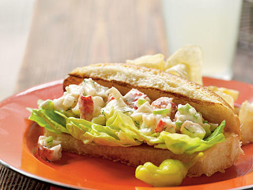 Lobster isn't just for the white-tablecloth set. These classic New England sandwiches are decidedly down-to-earth, and affordable to boot―just one pound of lobster feeds eight. The unbeatable flavor of fresh dill is excellent, and the dressing is extra tangy (and lower in fat) thanks to the addition of Greek yogurt.