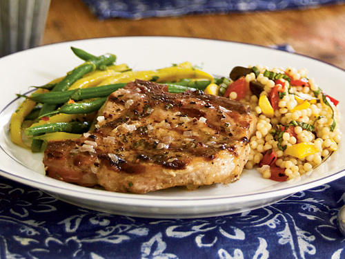Grilled Pork Chops with Shallot Butter Recipe