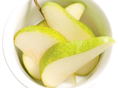 Health benefit: Half a pear has three grams of fiber, the same amount as a slice of whole-grain bread. (Fiber is ­essential for a healthy digestive system―aim for 25 grams a day.)