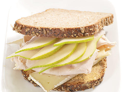 "Try it: ""Pears are the perfect sandwich fruit because they add sweetness and crunch without overpowering other flavors,"" Newgent says. Place half a small, sliced pear into a turkey sandwich with mustard and Brie on hearty whole-grain bread (shown here). Or sauté pears to heighten their flavor even more, toss with feta cheese and lemon vinaigrette, and serve in a whole-grain pita."