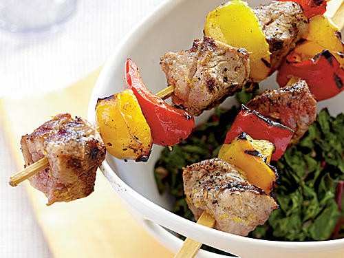 Tuscan Pork Kebabs Recipe