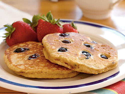 A time-honored pancake filler, blueberries not only add natural sweetness, but pack in antioxidants as well.