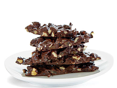 Dried cherries and crystallized ginger add a depth of flavor to this simple, four-ingredient chocolate bark. This recipe will satisfy your sweet tooth in a delicious way.