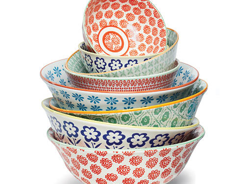What we love: Printed inside and out with red, blue, or green cornflowers, pale blue daisies or red and green geometric patterns, these Anthropologie bowls look lovely whether they're full or empty.Price: $8 to $24Shop: Anthropologie