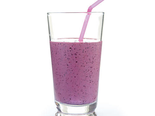 Don't make the mistake of working out on an empty stomach. Give your metabolism and muscles a boost with this low-fat smoothie. Silken tofu makes it creamy while adding 4 grams of protein per serving.Recipe: Blueberry Power Smoothie