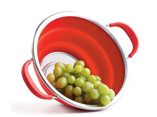Silicone sides allow the Norpro Knockdown colander to fold down for convenient storage.Price: $25Shop: Pronto Home