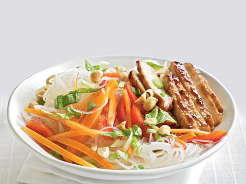 Healthy Dinner Recipe: Pork Noodle Salad