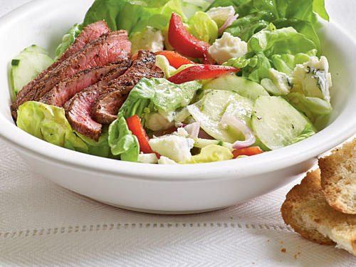 Barbecue Sirloin and Blue Cheese Salad