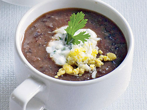 Our Mexican-inspired soup uses black beans blended with a rich base for a creamy texture and full flavor in every bite.