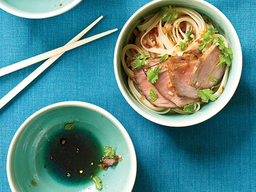 China: Char Siu Over Sesame Noodles