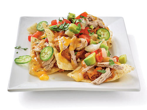 Low Fat Super Bowl Recipes: Pork and Pinto Bean Nachos