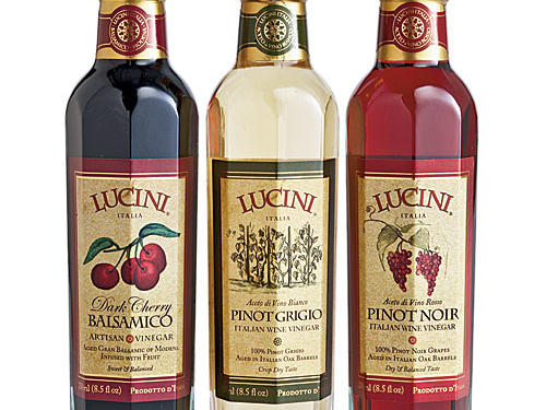 Who needs oil, with vinegars this smooth and flavorful? We sampled the entire line—pinot grigio, pinot noir, aged balsamic, dark cherry-infused, fig-infused—and loved them all.