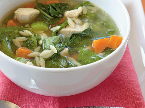 Nothing says comfort more than a bowl of chicken soup. With this superfast recipe, you don't have to wait the hours it takes to make a homemade chicken stock.