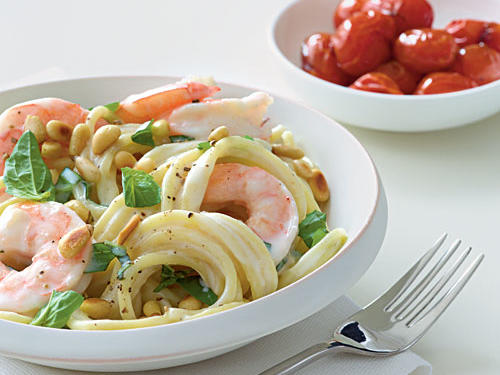 Shrimp and Pine Nut Spaghetti