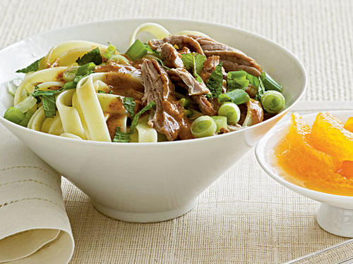 100 Pasta Recipes: Noodles with Roast Pork and Almond Sauce