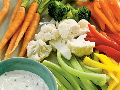 Step away from the packaged ranch dip and offer a homemade alternative. You can prepare this all-purpose dip up to a day ahead. Serve with cauliflower and broccoli florets, carrot and celery sticks, and bell pepper strips.