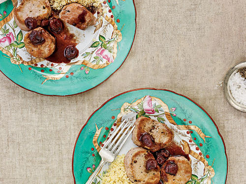 Pork Medallions with Pomegranate-Cherry Sauce Recipes