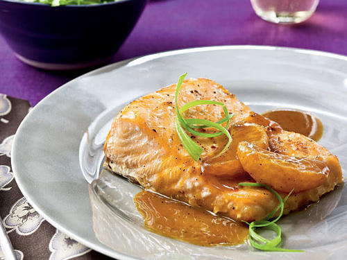 Salmon with Satsuma-Soy Glaze Recipe