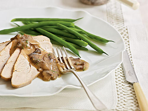 Maple-Brined Turkey Breast with Mushroom Pan Gravy Recipes