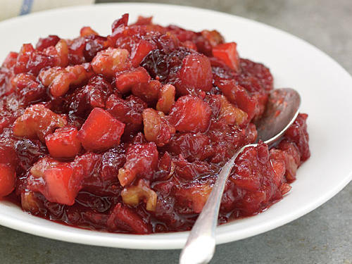 The flavors of fall meld seemlessly into a sweet sauce to be paired with roasts. When buying the ingredients for this recipe, buy an extra bag of cranberries to freeze so you can enjoy the sauce more often than just within the narrow window of cranberry season. The recipe can also easily be made and stored for up to two weeks.