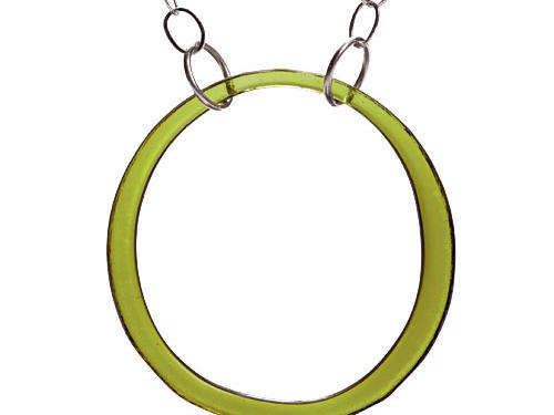 Smart Glass Jewelry  Open  Circle Necklace