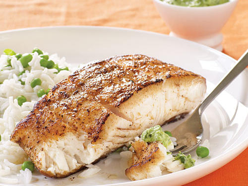 Healthy Dinner Recipe: Halibut with Spicy Mint-Cilantro Chutney