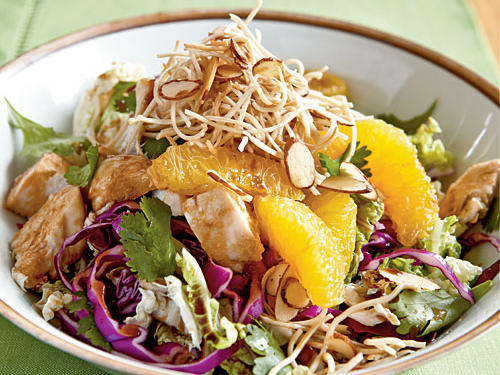 Dinner prep for this delicious, Asian-inspired main-dish chicken salad is an absolute breeze.