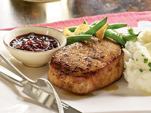 Pork with Pomegranate Pan Sauce