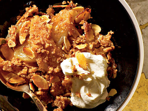 Pear Crisp with Amaretti Topping Recipe