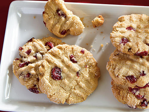 Macadamia Butter Cookies with Dried Cranberries Recipe