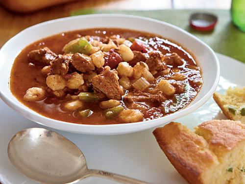 Healthy Dinner Recipe: Ancho Pork and Hominy Stew