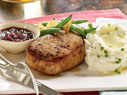 Healthy Dinner Recipe: Pork with Pomegranate Pan Sauce