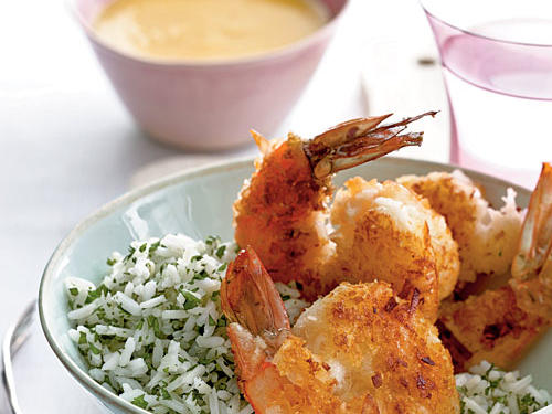 Coconut Shrimp with Fiery Mango Sauce Recipe