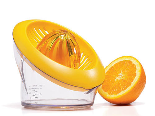 A cumbersome juicer can be the difference between juice in the bowl or juice on the floor. The Cuisipro Citrus Juicer helps avoid the latter. An ergonomic design and conveniently placed grip base will make citrus extraction both quick and easy.Price: $18For Retailers: Cuisipro