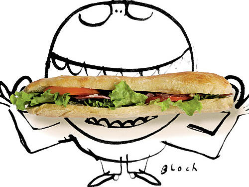 Sub Sandwich Illustration