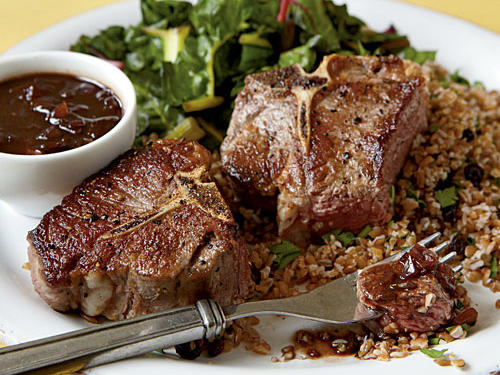 Healthy Dinner Recipe: Seared Lamb with Balsamic Sauce