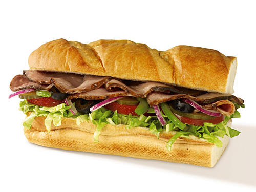 Fast Food Nutrition: Subway 6-inch Roast Beef Sandwich