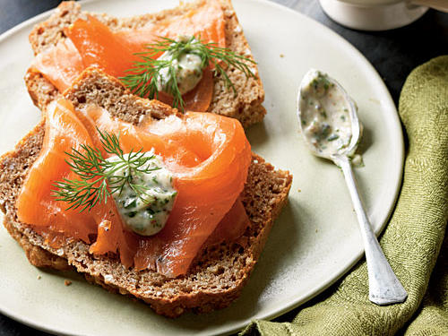 Although smoked Irish salmon is traditional, any smoked salmon will work in this dish—just make sure to purchase smoked wild salmon because it's a sustainable choice.