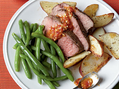 Roast Leg of Lamb with Chile-Garlic Sauce Recipes
