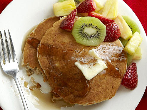 Whether you're serving up breakfast for dinner or a delicious weekend brunch, make an extra batch and freeze to save for busy mornings. Bonus: Many of our online reviewers have called these fluffy, flavorful pancakes the best they've ever tasted.