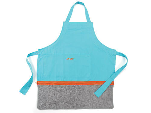 There's no need to sling a dish towel over your shoulder if you're wearing this apron, which includes an absorbent terry cloth towel attached by zipper.Price: $40Shop: Just Perfect Inc.