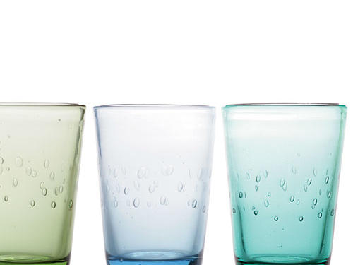 Ocean hues and a gently bubbled pattern make Sundance's Rain Tumblers look like sea glass.Price: $28/set of 4Shop: Sundance