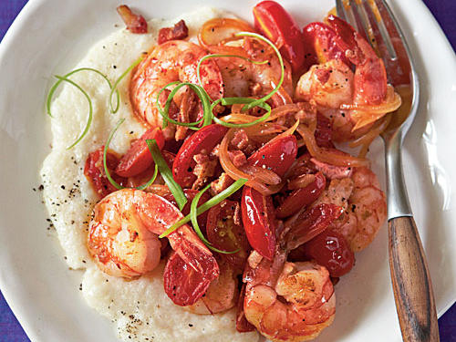 A Low Country classic has a spicy transformation in this delectable dish. Flavors from sweet grape tomatoes and savory bacon are awoken with either a hit of hot pepper sauce or a bit of chopped chipotle peppers; the choice is up to you. Whichever spicy-route you take, be prepared to be savoring the flavors of the coastal South in no time.