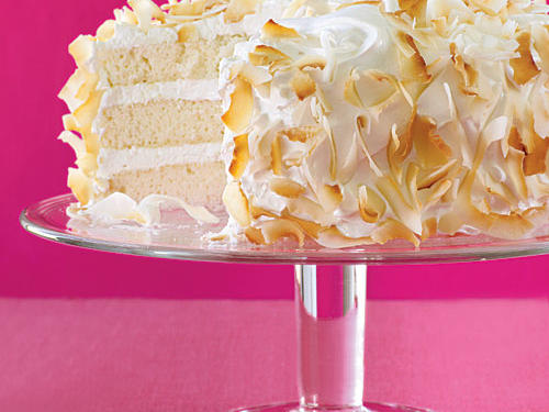 "Rather than knocking you out with fake coconut extract overtones, this cake offers balanced flavor and nutrition—two things you can feel good about when serving a slice to your lucky guests. Associate Food Editor Julianna Grimes comments, ""This cake has tall, moist layers with the finest crumb. Plus, I'm a really big fan of fresh coconut."""