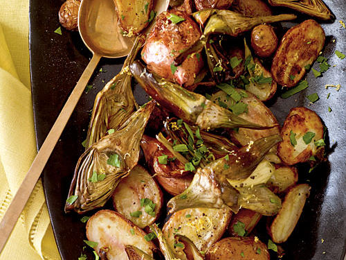 Roasted Fingerling Potatoes and Baby Artichokes Recipes