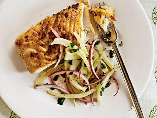 Halibut with Lemon-Fennel Salad