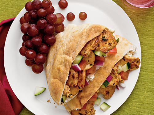Tangy, yet cool Greek-style yogurt is the perfect counterpoint to spicy chicken tossed in a blend of Middle Eastern spices and sautéed to perfection. Your mouth will by watering from the moment the chicken hits the skillet.