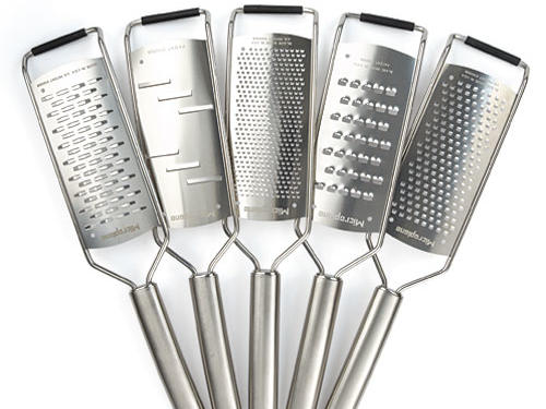 Handheld graters are easy to use and store, but, as any cooking connoisseur knows—grating needs come in a variety of shapes and sizes. Whether a recipe calls for coarse, fine, or ribbon grating, this grater set has covered all the bases. What about the nutmeg? Fret not, an additional attachment (ideal for small items) is included in the set.Price: $80Shop: Microplane
