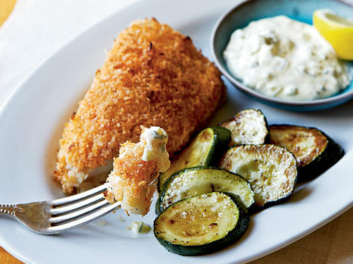 Healthy Dinner Recipe: Crispy Fish with Lemon-Dill Sauce