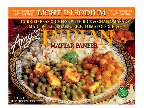 Amy's Light in Sodium Indian Mattar